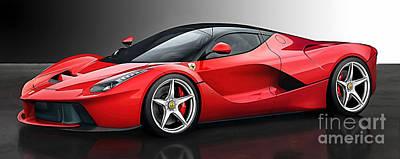Ferrari Laferrari Poster by Marvin Blaine