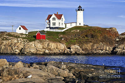 Nubble Lighthouse Poster by John Greim
