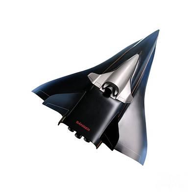 Saenger Horus Spaceplane, Artwork Poster by Detlev van Ravenswaay