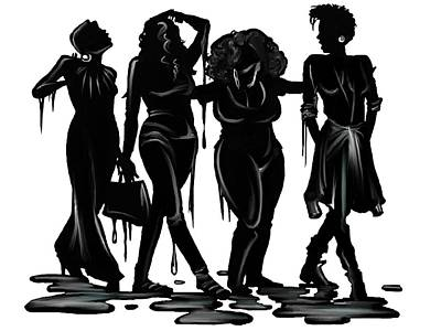 Black. Poster by Terri Meredith