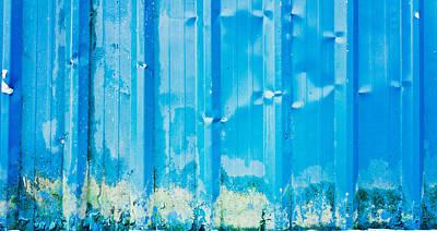 Blue Metal Poster by Tom Gowanlock