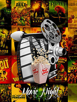 Movie Room Decor Collection Poster by Marvin Blaine