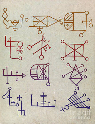 Cabbalistic Signs And Sigils, 18th Poster by Science Source