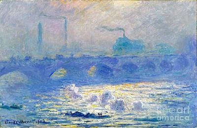 Waterloo Bridge Poster by Claude Monet