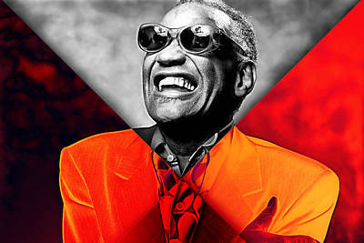 Ray Charles Collection Poster by Marvin Blaine