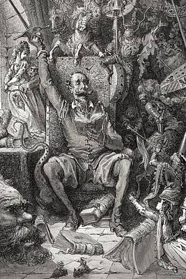 Engraving By Gustave Dore 1832-1883 Poster by Vintage Design Pics