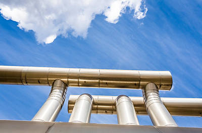 Pipes At Nesjavellir Geothermal Power Poster by Panoramic Images