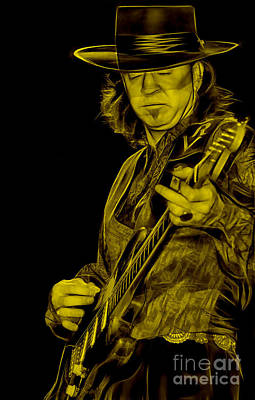 Stevie Ray Vaughan Collection Poster by Marvin Blaine