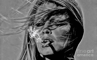 Brigitte Bardot Collection Poster by Marvin Blaine
