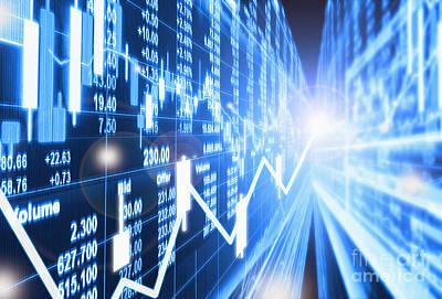 Stock Market Concept Poster by Setsiri Silapasuwanchai