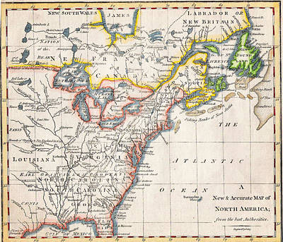 1775 A New And Accurate Map Of North America Poster by Celestial Images