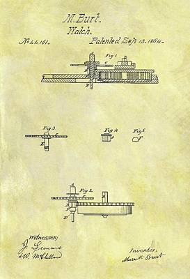 1804 Watch Patent Poster by Dan Sproul