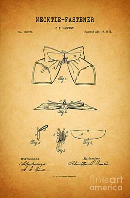 1871 Necktie Fastener 1 Poster by Nishanth Gopinathan