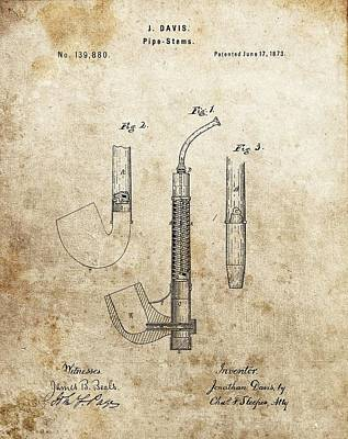 1873 Pipe Patent Poster by Dan Sproul