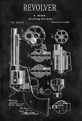 1875 Revolver Gun Patent Poster by Dan Sproul