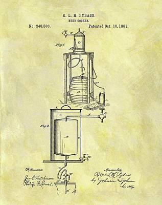 1881 Beer Cooler Patent Poster by Dan Sproul