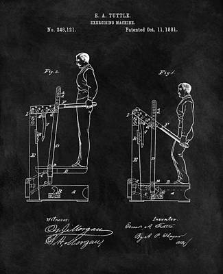1881 Exercise Machine Illustration Poster by Dan Sproul