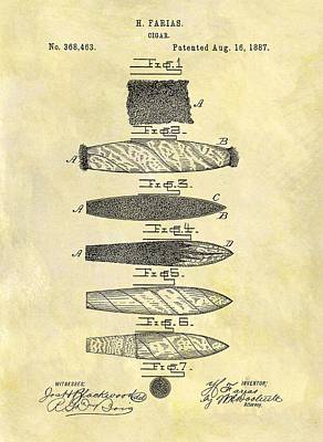 1887 Cigar Patent Poster by Dan Sproul