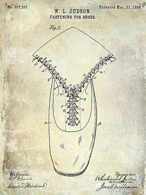 1896 Shoe Patent  Poster by Jon Neidert