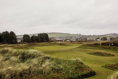 18th At Royal County Down Poster by Scott Pellegrin
