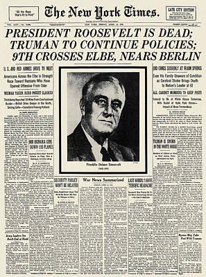 Franklin D. Roosevelt Poster by Granger