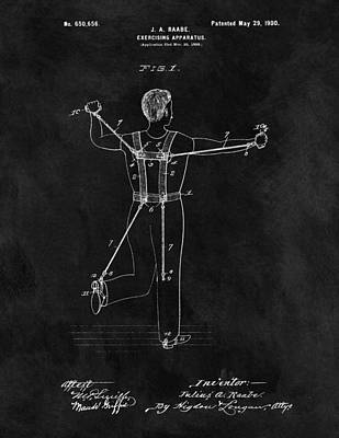 1900 Exercise Equipment Patent Poster by Dan Sproul