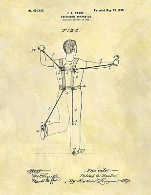 1900 Exercising Machine Patent Poster by Dan Sproul