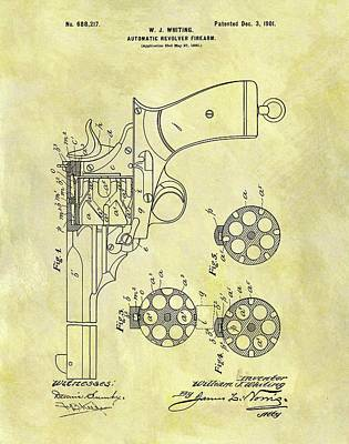 1901 Automatic Revolver Patent Poster by Dan Sproul