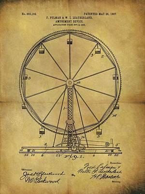1907 Ferris Wheel Patent Poster by Dan Sproul