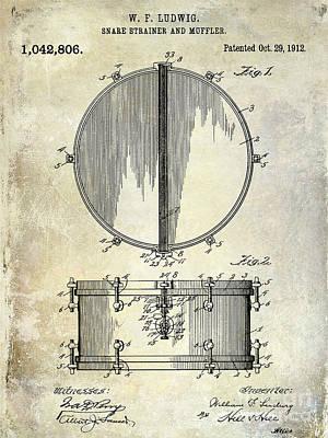 1912 Ludwig Drum Patent  Poster by Jon Neidert