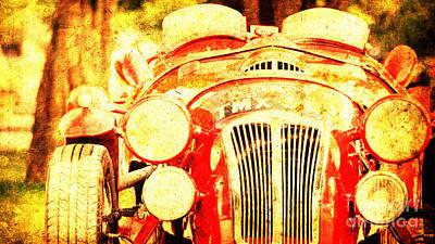 1929 Mercedes-benz 710 Ss Grand Prix Poster by Pablo Franchi