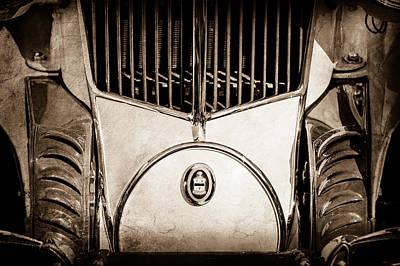 1930 Cord L-29 Speedster Grille Emblem -0464s Poster by Jill Reger