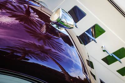 1934 Packard 1104 Cabriolet Head Light -0304c Poster by Jill Reger