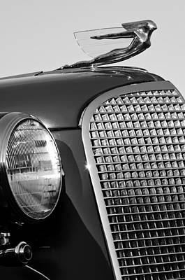 1937 Cadillac V8 Hood Ornament 3 Poster by Jill Reger