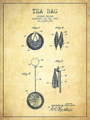 1937 Tea Bag Patent 02 - Vintage Poster by Aged Pixel