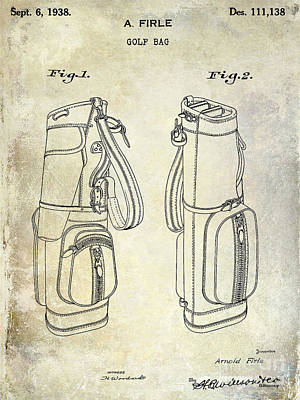 1938 Golf Bag Patent Poster by Jon Neidert