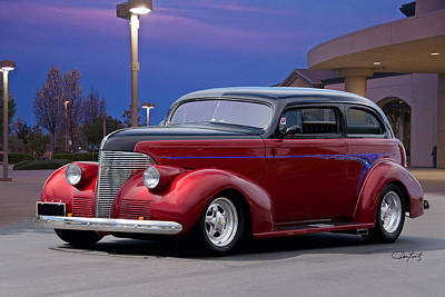 1939 Chevrolet 'custom' Sedan Poster by Dave Koontz