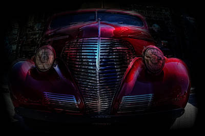 1939 In A Bubble   Chevy Car Art Poster by Lesa Fine