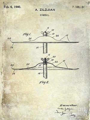 1940 Cymbal Patent  Poster by Jon Neidert