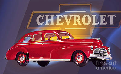 1946 Chevrolet Fleetmaster Sport Sedan Poster by GabeZ Art