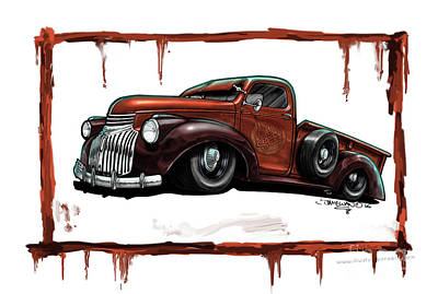 1946 Chevy Pickup Truck Poster by Dave McEwan