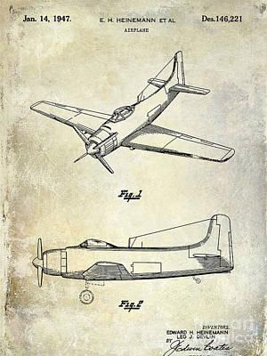 1947 Airplane Patent Poster by Jon Neidert