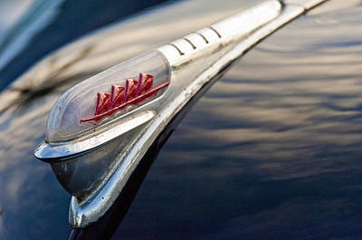 1947 Plymouth Hood Ornament 1 Poster by Jill Reger