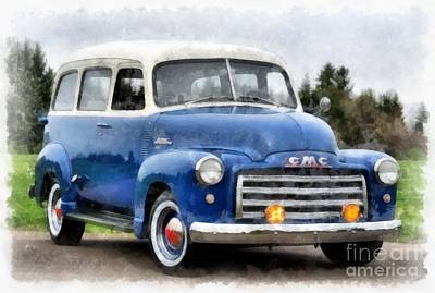 1950 Gmc Carryall Suburban 100 Poster by Edward Fielding