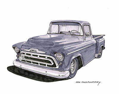 1950 S G M C Pick Up Truck Poster by Jack Pumphrey