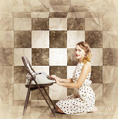 1950s Fictional Pinup Writer Poster by Jorgo Photography - Wall Art Gallery