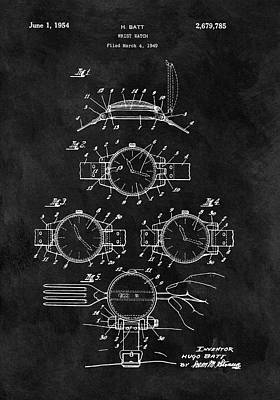 1954 Wrist Watch Patent Poster by Dan Sproul