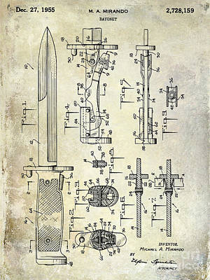 1955 Bayonet Patent Poster by Jon Neidert