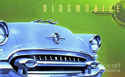 1955 Oldsmobile Ninety-eight 3 Poster by GabeZ Art