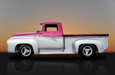 1956 Ford F-100 Pickup Poster by Frank J Benz